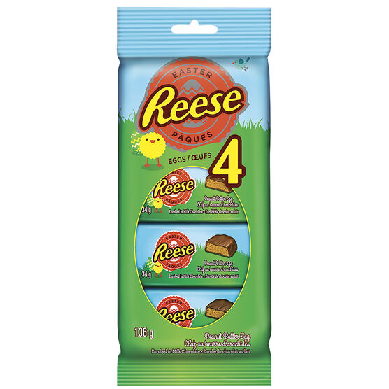 Reese Peanut Butter Candy Eggs - 4 pack / 136g