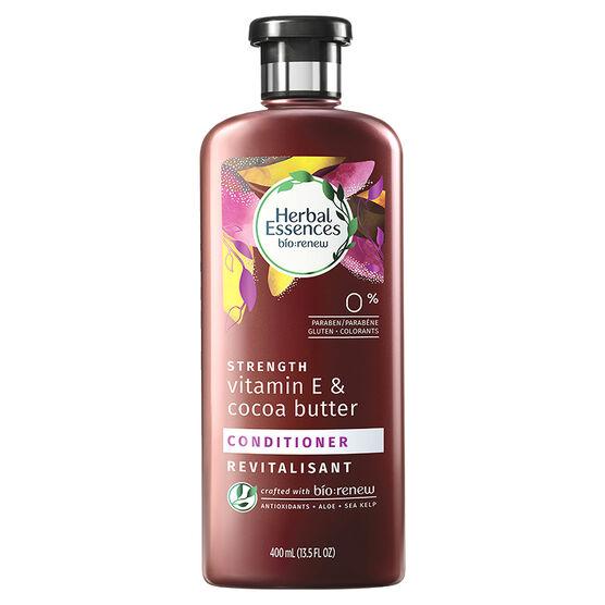 Herbal Essences bio:renew Strength Vitamin E & Cocoa Butter Conditioner - 400ml