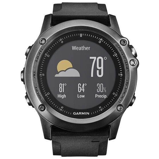 Garmin fenix 3 HR GPS Watch - Grey - 0100133870