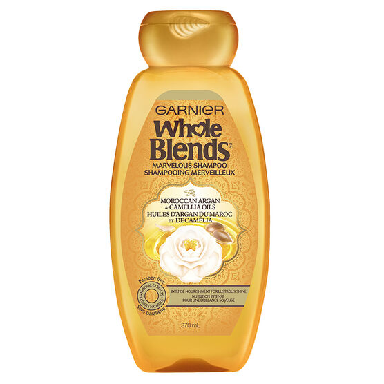 Garnier Whole Blends Marvelous Shampoo - Moroccan Argan & Camellia Oils - 370ml