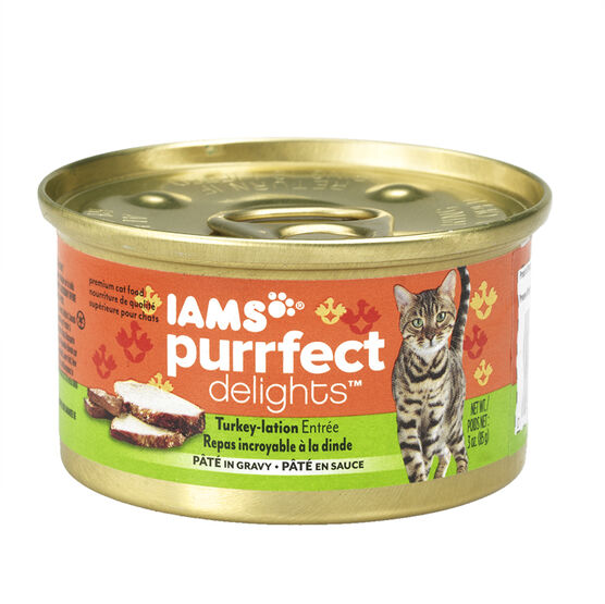 Iams Purrfect Delight Cat Food - Turkey-lation - 85g