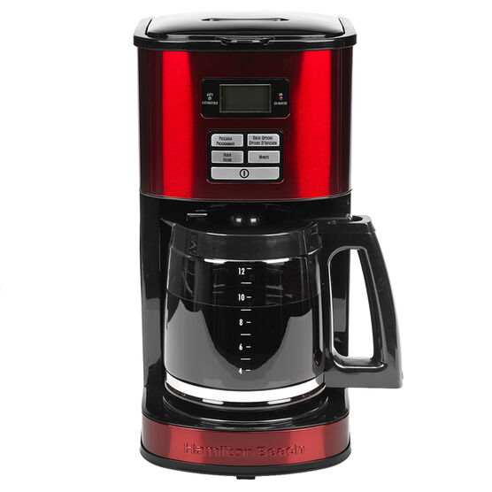 Hamilton Beach 12 Cup Digital Coffee Maker - Metallic Red - 49619C