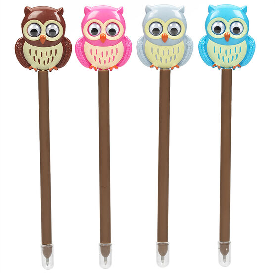 Novelty Pens with Moving Parts - Owl - Assorted