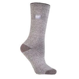 Heat Holders Ladies Lite Twist Crew Sock - Silver/Cream