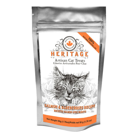 Heritage Artisan Cat Treats - Salmon and Blueberry - 50g