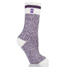 Heat Holders Ladies Twist Crew Sock - Purple