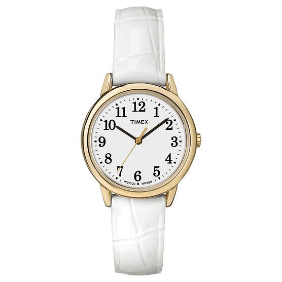 Timex Easy Reader Mid Size Watch - White - TW2P68900GP