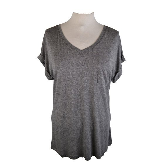 Lava Short Sleeve V-Neck Tee with Chest Pocket - Assorted