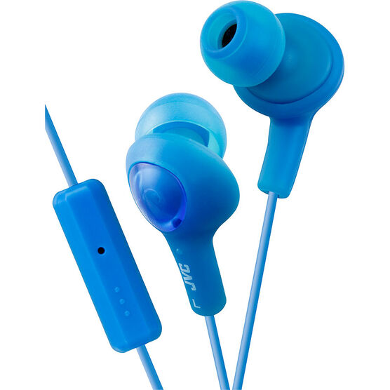 JVC Gumy Plus Headphones with Built-in Mic - Blue - HAFR6A