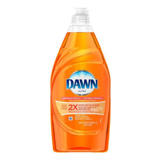 Dawn Ultra Anit-Bacterial Dish Soap - Orange - 638ml