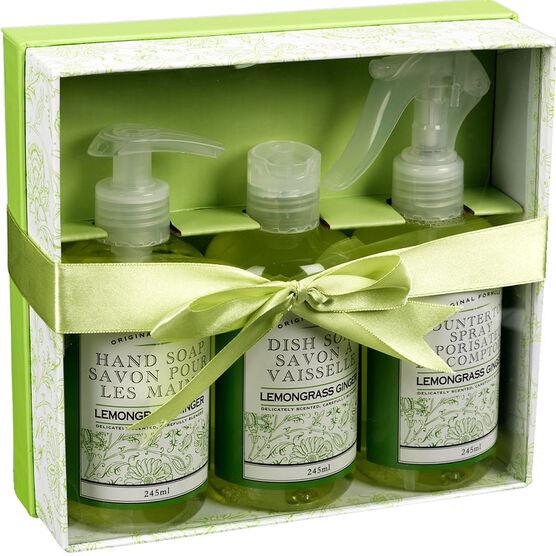 The Kitchen Kit Set - Lemon Grass Ginger - 3 piece