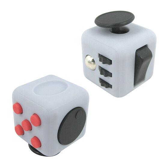 IQ Fidget Friend Cube - Grey/Red - IQFIDGYRED