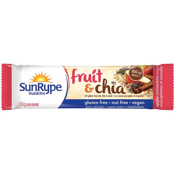 SunRype Fruit & Chia Bar - Apple Cinnamon - 50g