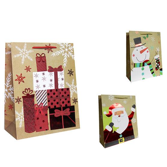 Paper Trendz Kraft Gift Bag - Large - Assorted
