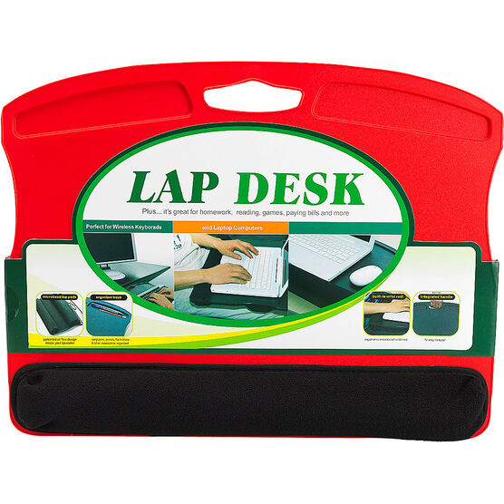 Lap Desk with Microbead Wrist Rest - Red