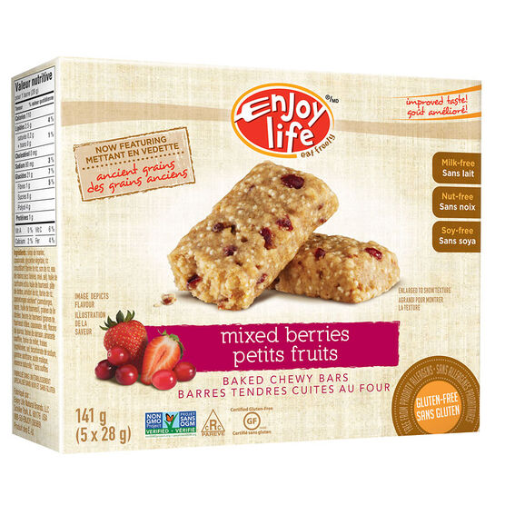 Enjoy Life Gluten Free Baked Chewy Bars - Mixed Berry - 141g