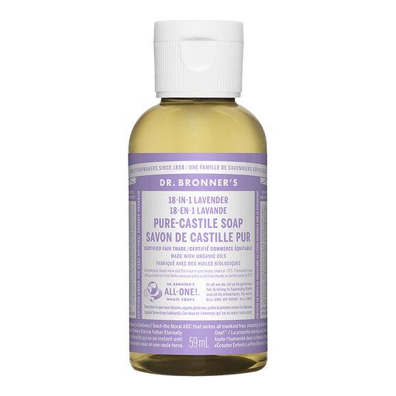 Dr Bronner's 18-In-1 Liquid Soap - Lavender - 59 ml