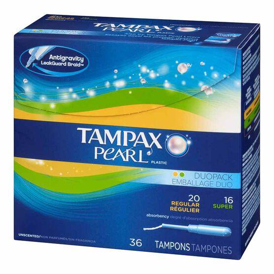 Tampax Pearl Duo Pack - Regular/Super - 20's + 16's