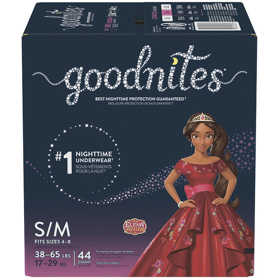 GoodNites Youth Pants for Girls - Small/Medium - 44's