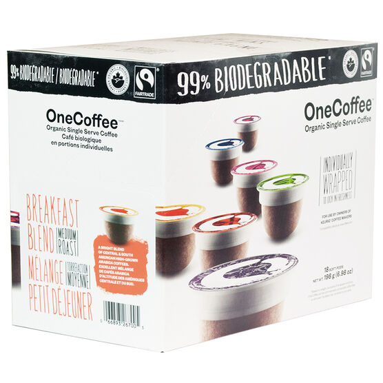 OneCoffee Single Use Soft Pods - Breakfast Blend - 18's