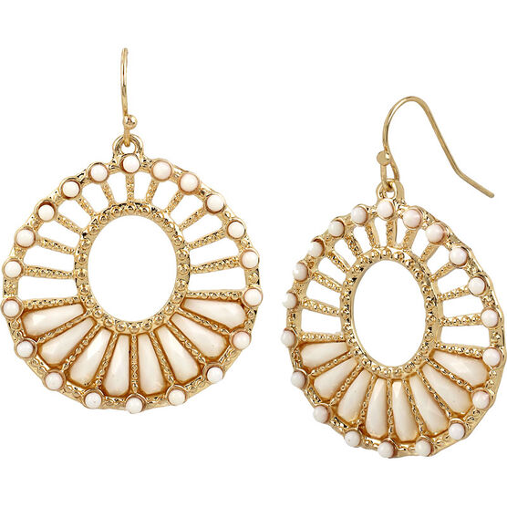 Haskell Statement Earrings - Peach/Gold