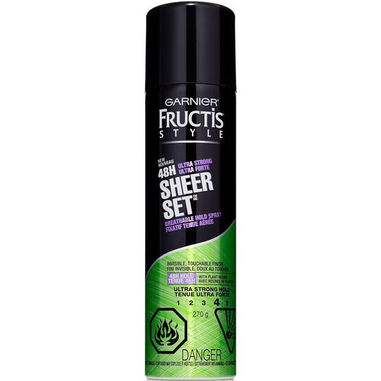 Garnier Fructis Sheer Set Hairspray - Ultra Strong Hold - 281ml