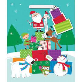 Santa and Friends Christmas Gift Bag - Jumbo - 14243573-BARO