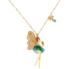 Betsey Johnson Fairy Necklace - Green