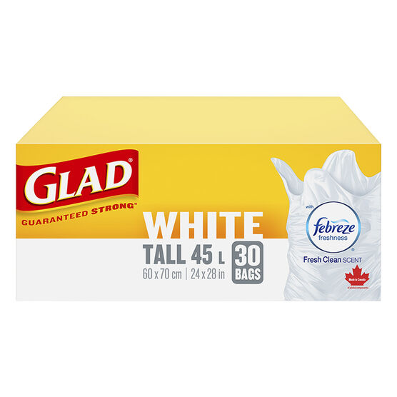 Glad Easy-Tie Kitchen Catcher Garbage Bags - Tall - 30's