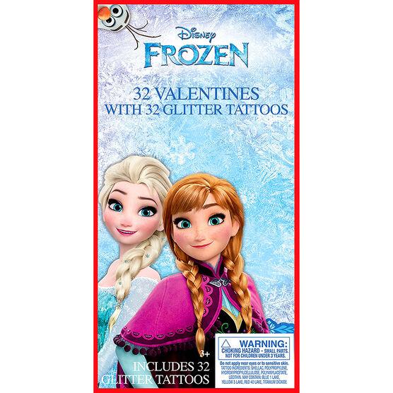 Frozen Glitter Tattoo Valentines - 32s - 4153605