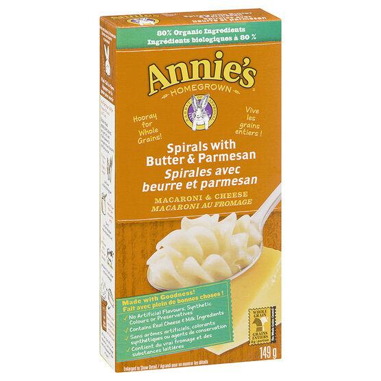 Annie's Spirals with Butter & Parmesan - 149g