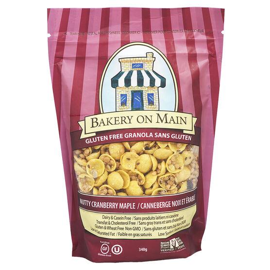 Bakery on Main Gluten Free Granola - Nutty Cranberry-Maple - 340g