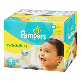 Pampers Swaddlers Diapers - Size 4 - 70's