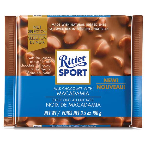 Ritter Sport - Milk Chocolate & Macadmia - 100g