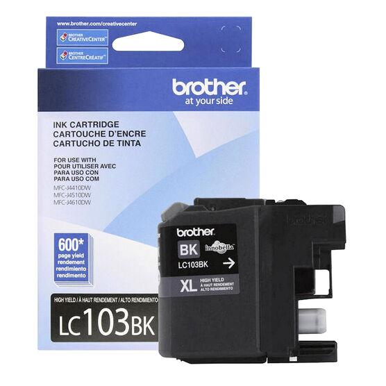Brother LC103BKS Black Printer Ink Cartridge
