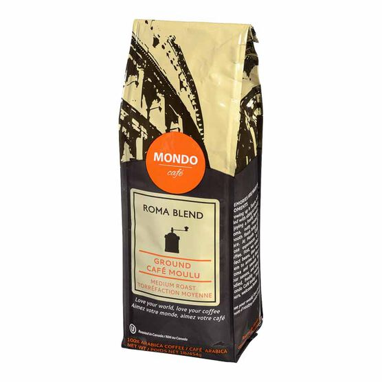 Mondo Cafe Roma Blend Ground Coffee - Medium Roast - 454g