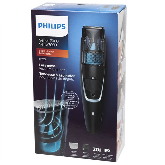 Philips Vacuum Beard Trimmer - Black - BT7201/15