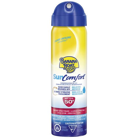 Banana Boat Sun Comfort Sunscreen Spray - SPF50+ - 51g