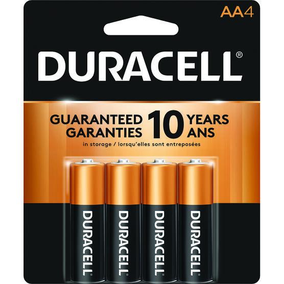 Duracell CopperTop AA Alkaline Batteries -  4 pack