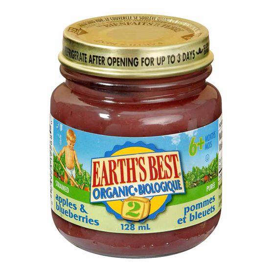 Earth's Best - Apples & Blueberry - 128ml