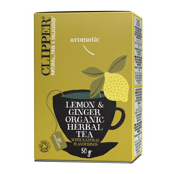 Clipper Organic Tea - Lemon & Ginger - 20's