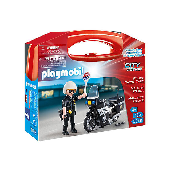 Playmobil City Action - Police Carry Case - Small