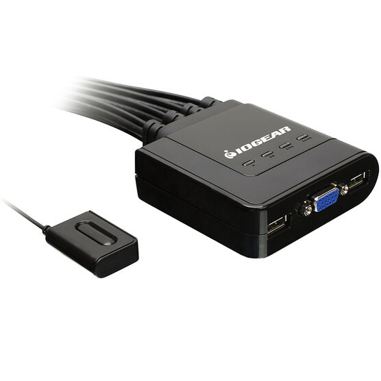 IOGEAR 4 Port USB Cable KVM Switch - GCS24U