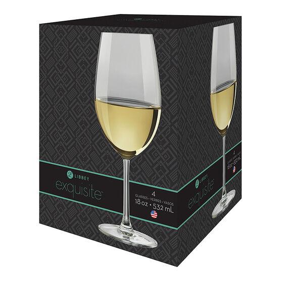 Libbey Exquisite White Wine - Set of 4