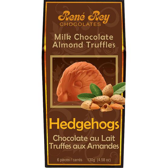 Rene Rey Hedgehogs - Milk Chocolate Almond Truffles - 130g