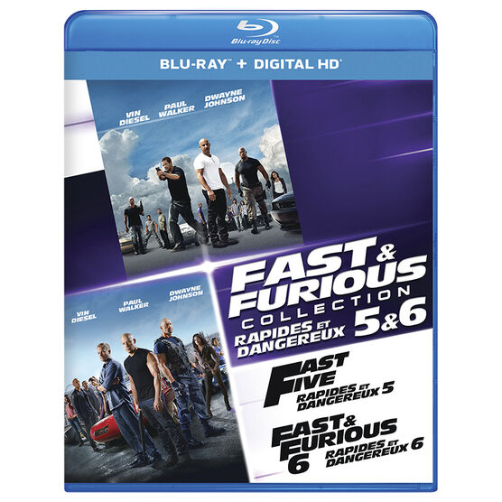 Fast and Furious Collection 5 and 6 - Blu-ray
