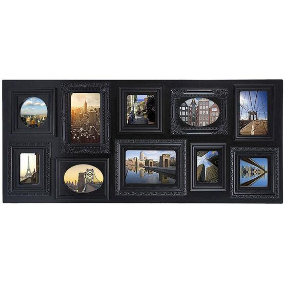 "KG Sophia 10 Opening Collage Frame - Black - 13x31"""