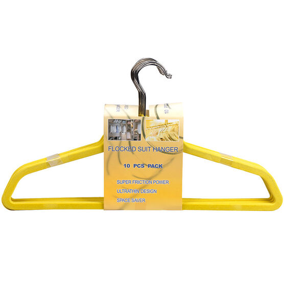 London Drugs Flocked Suit Hangers - Yellow - 10 pack