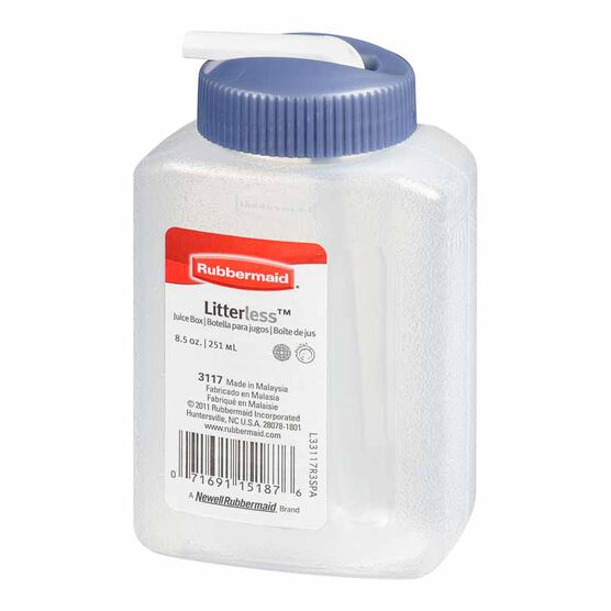 Rubbermaid Litterless Juice Box - Blue - 250ml