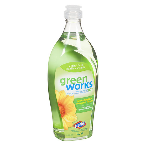 Green Works Natural Dishwashing Liquid - Original - 650ml